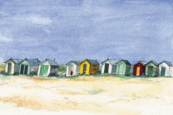 Beach Huts, Southwold