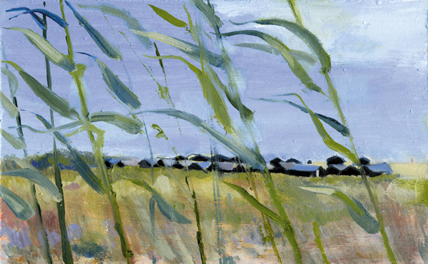 Beach Huts Through the Reeds (I)
